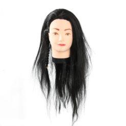 Coiffer cheveux™ Tête à coiffer mi-long noir & raides