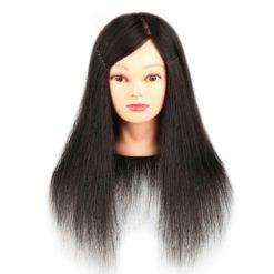Tête à coiffer long Noir
